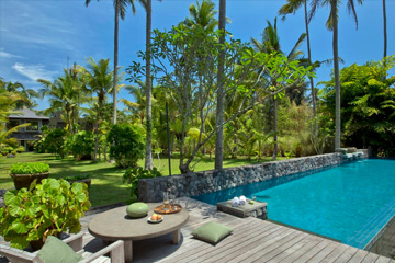 Luxury villa estate at Ayung River in Ubud Bali