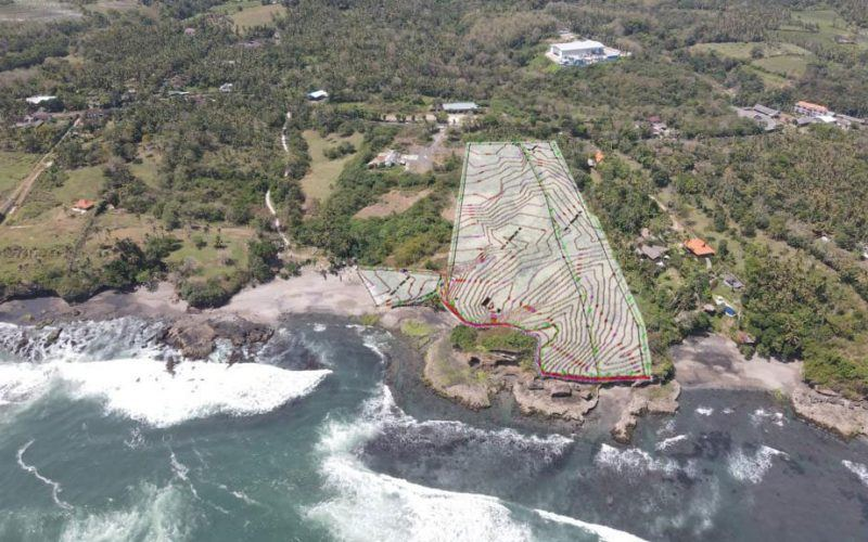 Absolute Beachfront Land for Sale in Tabanan