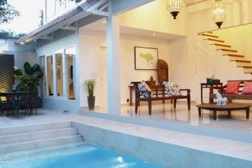 2 Bedroom + 1 Bedroom Size Study Leasehold Villa in Batu Belig