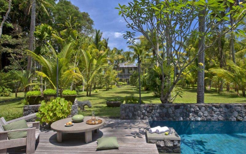 The Architects house, a luxury villa estate at Ayung River in Ubud Bali