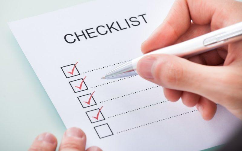 Pre-due diligence checklist Bali