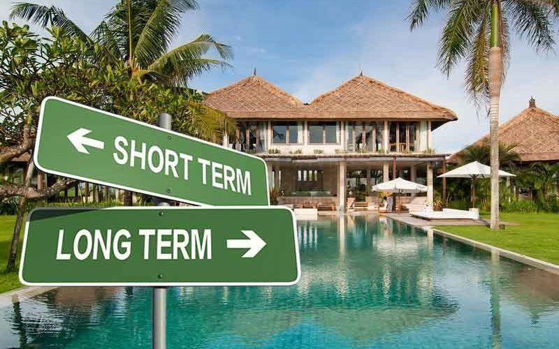 Bali long term rental vs short term
