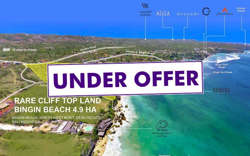 Stunning 4.9 Hectares of Cliff Front Land for Hotel and Villa Development