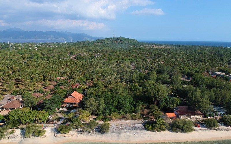 Dijual Tanah Depan Pantai di Gili Trawangan, Lombok