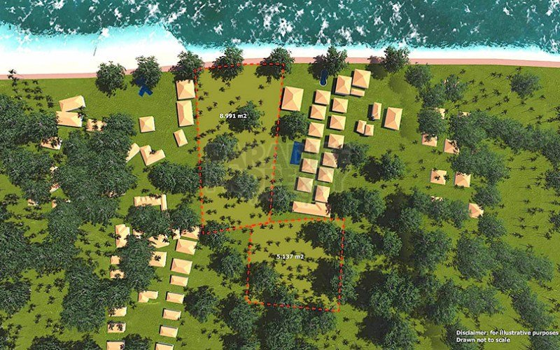 Beautiful Beach Front Development Lot In The North Of The Very Popular Island Of Gili Trawangan.