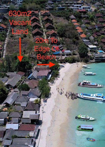 Land for sale in Lembongan