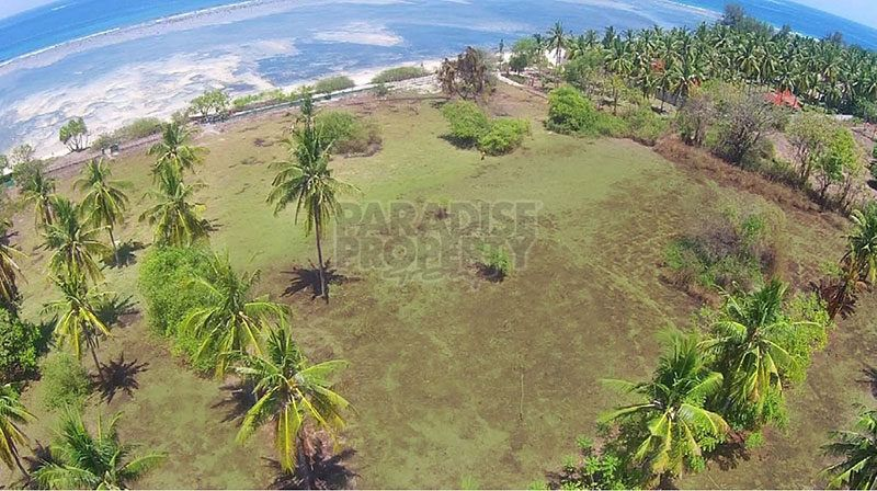 Prime 2.155 Hectare Beachfront Land for Sale Freehold on Gili Air