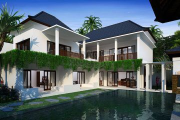 Two Connectable Luxury 5 Bedroom Villas Close to Berawa Beach