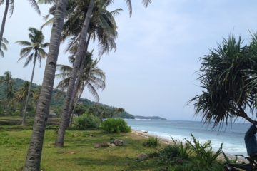Beachfront Sunset facing 24.03 Are Development site for sale in Senggigi Lombok
