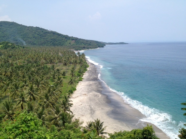 Beachfront Sunset facing 24.03 Are Development site for sale in Senggigi Lombok