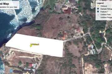 7500 sqm  Absolute Cliff Front Land In Uluwatu