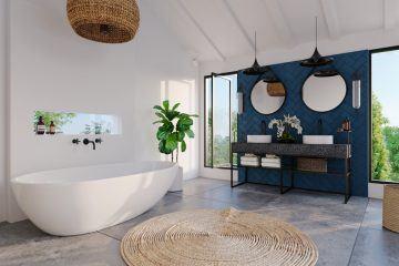 New 4 Bedroom Riverside Villa with Greenbelt Rice Field Views